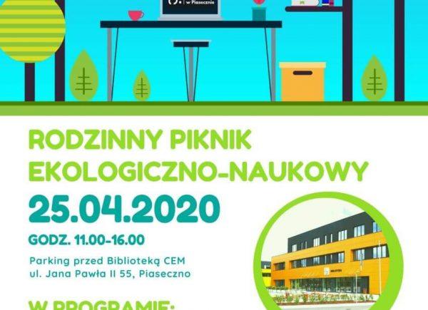 Rodzinny Piknik Ekologiczno-Naukowy w Piasecznie