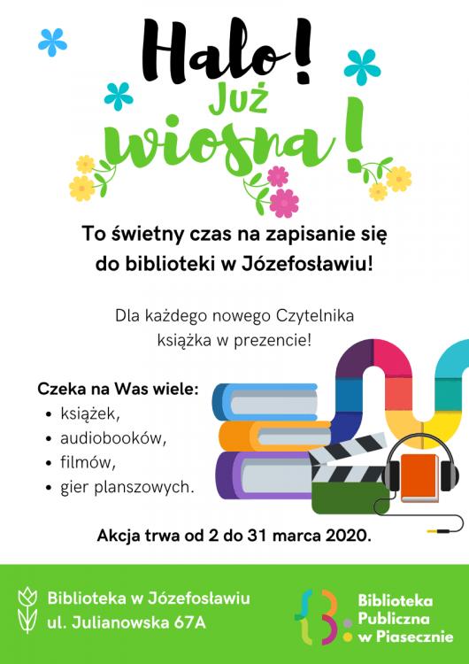 Plakat promujący akcję Halo Wiosna