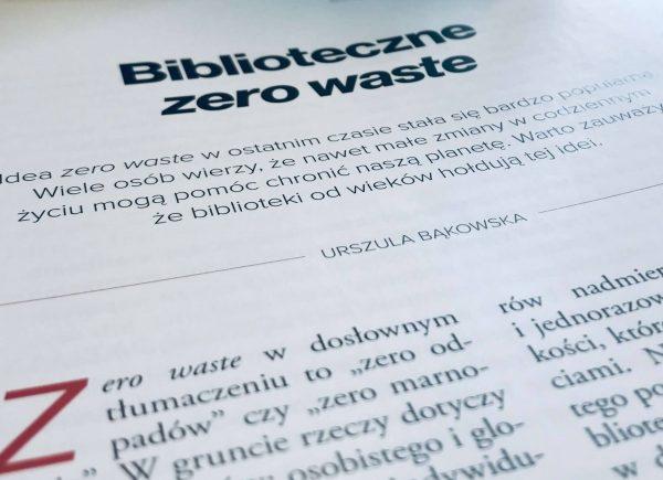 Biblioteczne Zero Waste