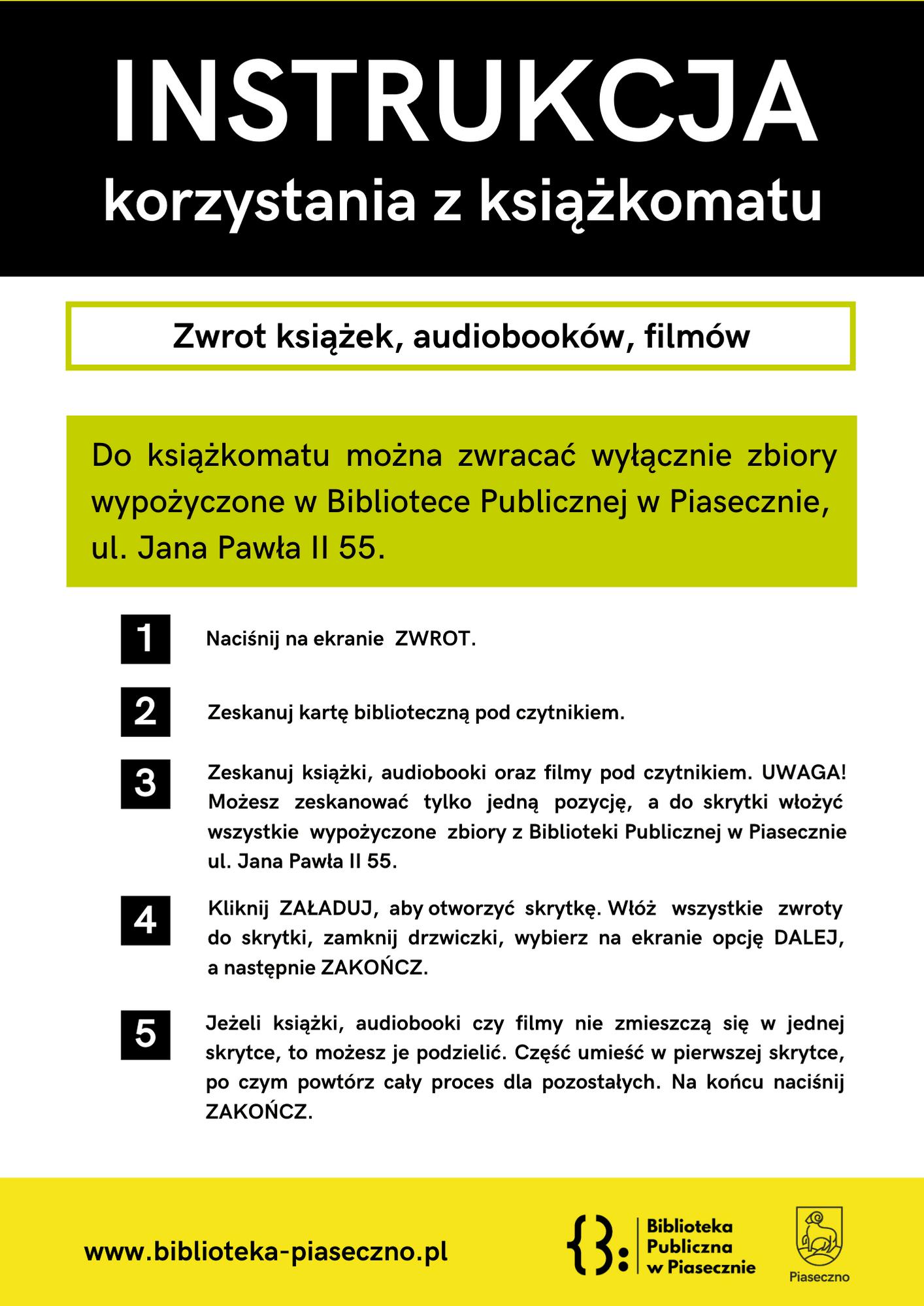 Zwrot Książek DoKsiążkomatu