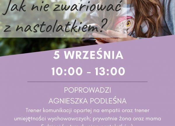 Plakat promujący warsztaty
