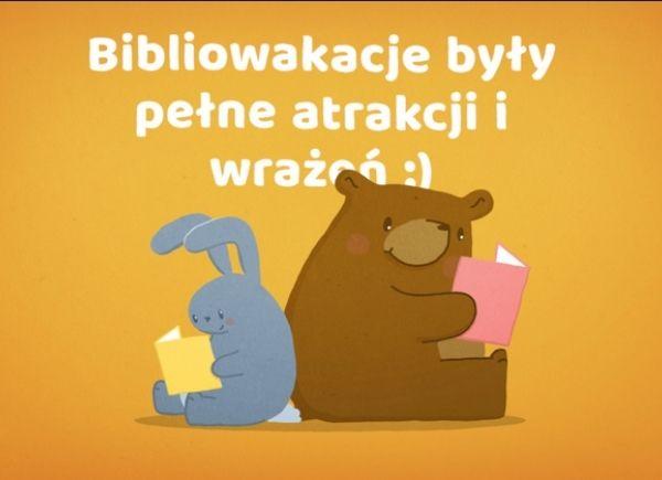 Grafika promująca Bibliowakacje