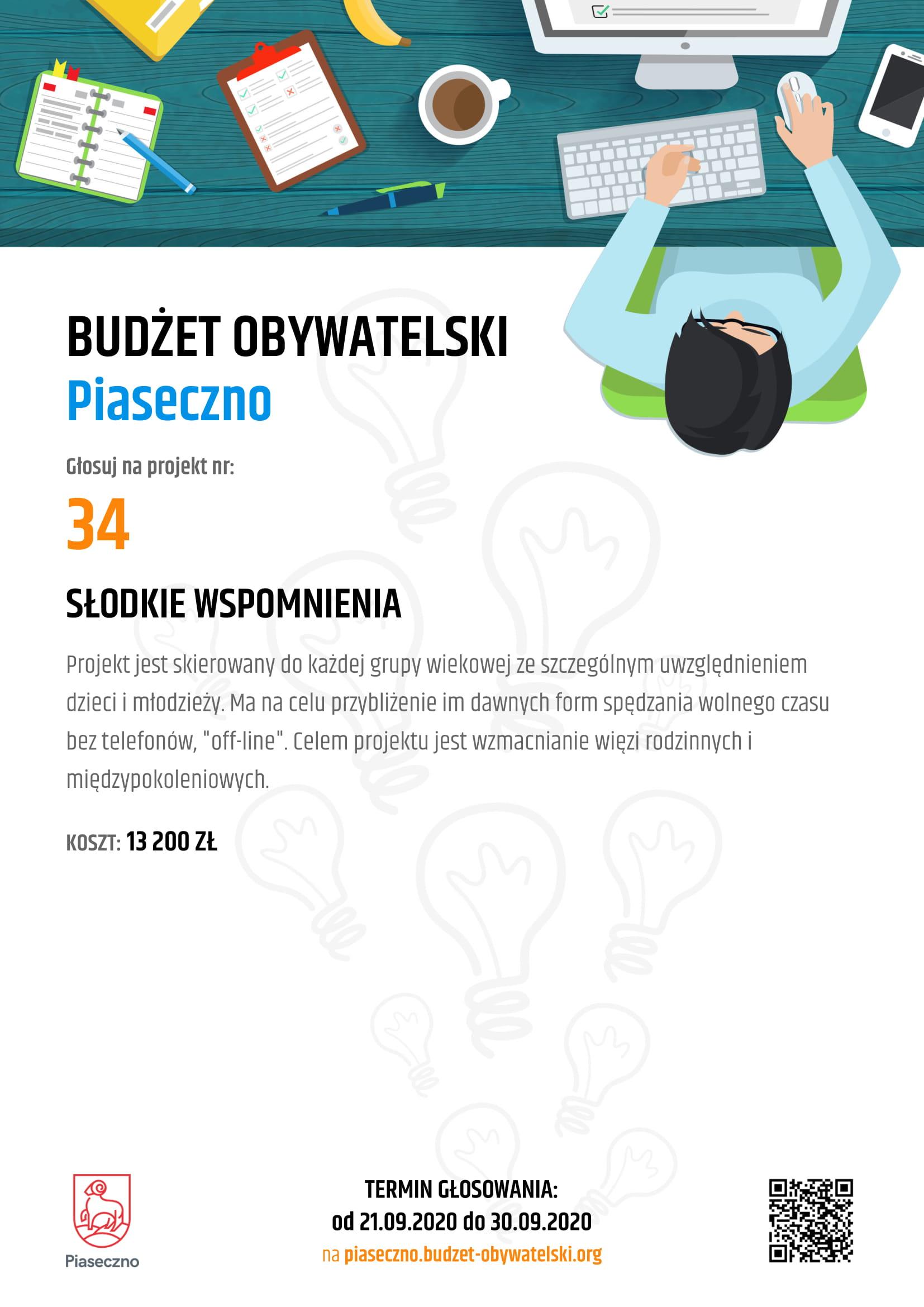 Budżet Obywatelski Piaseczno 34 Słodkie Wspomnienia
