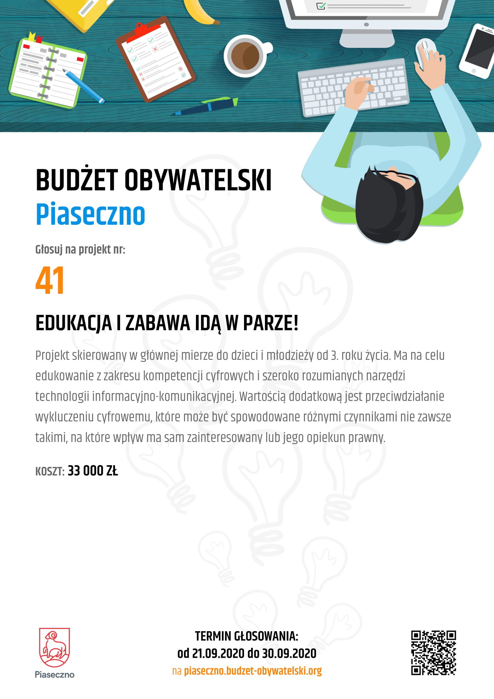 Budżet Obywatelski Piaseczno 41 Edukacja IZabawa Idą WParze!