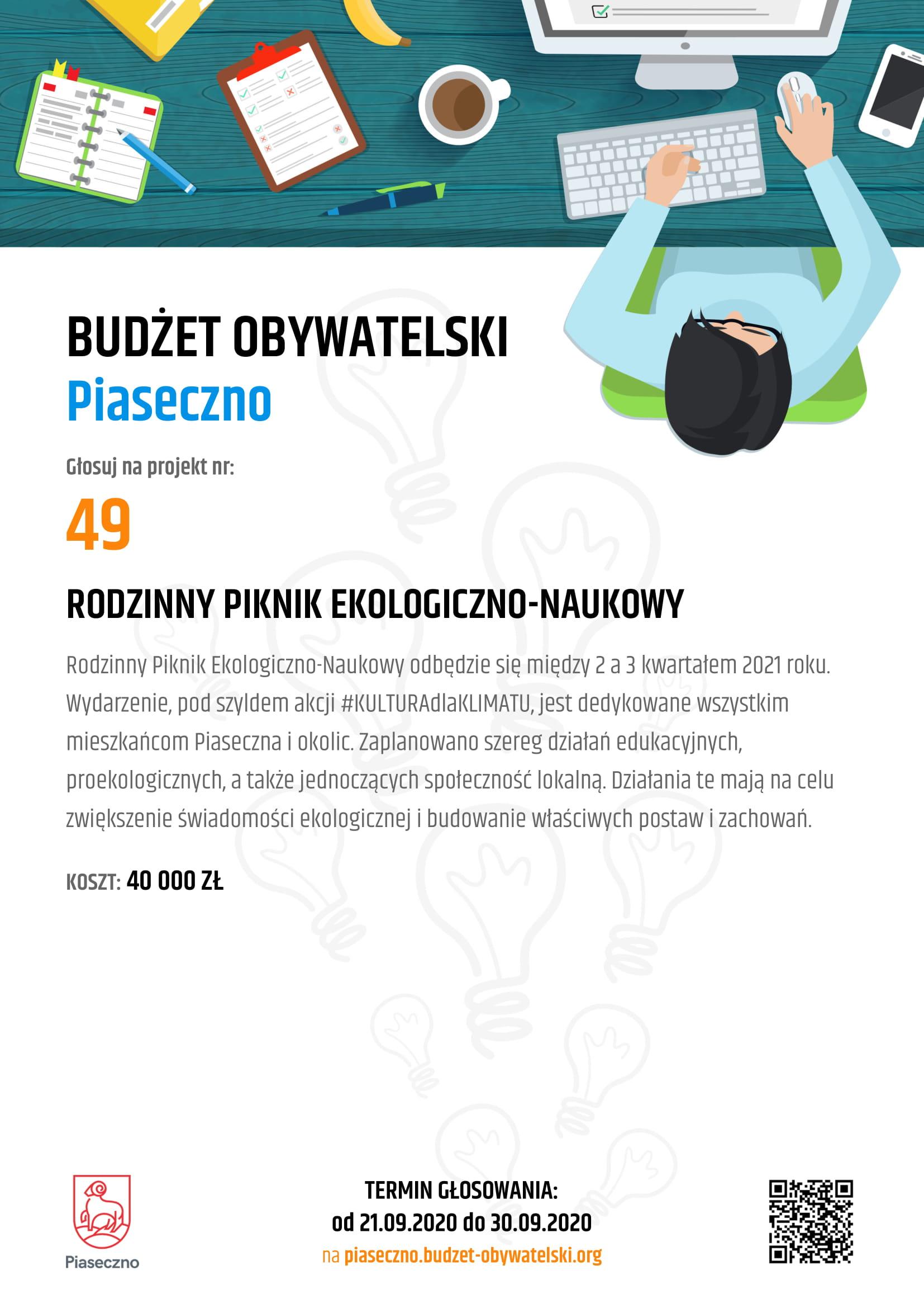Budżet Obywatelski Piaseczno 49 Rodzinny Piknik Ekologiczno Naukowy