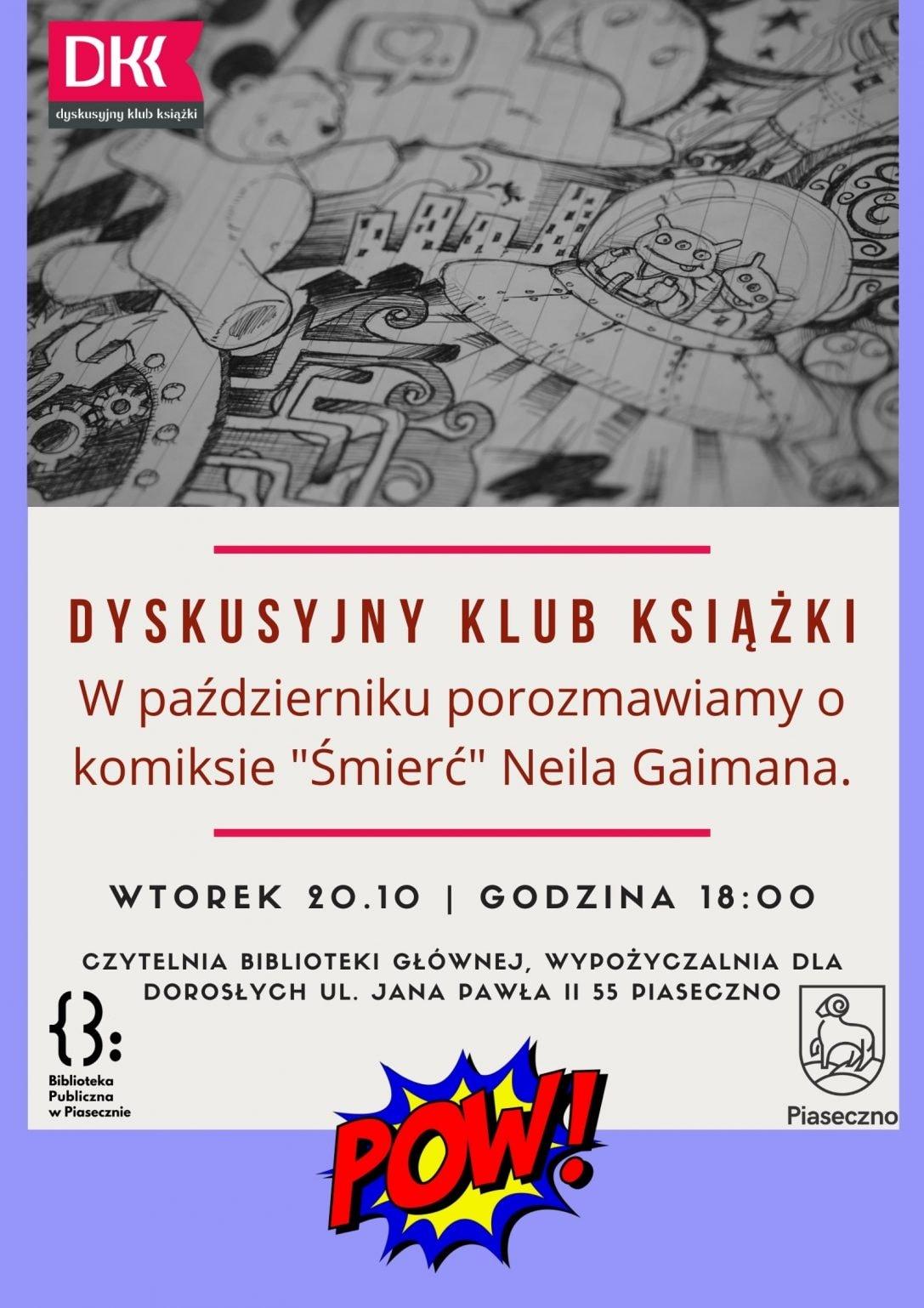 Plakat Dyskusyjnego Klubu Książki