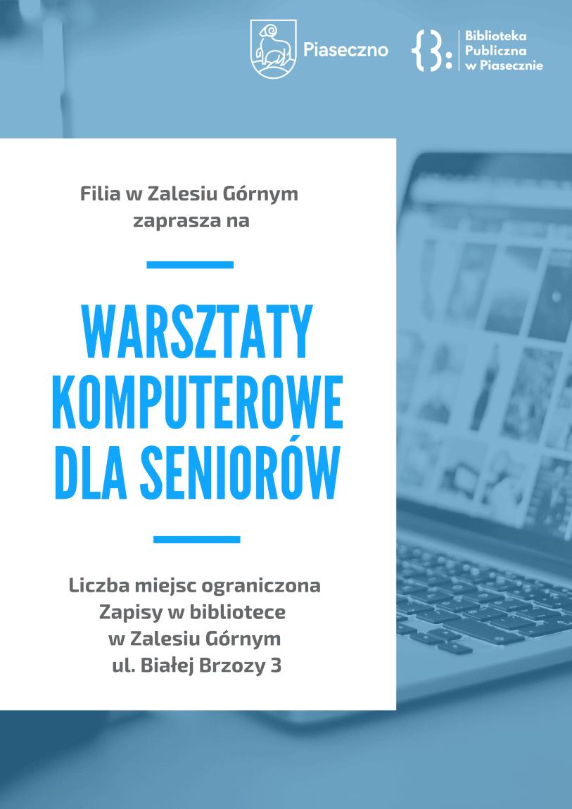 plakat promujący warsztaty komputerowe dla seniorów