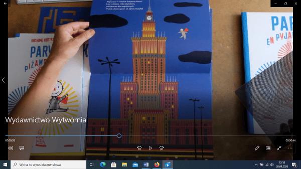 Klatka z filmu nt. Wydawnictwa Wytwórnia