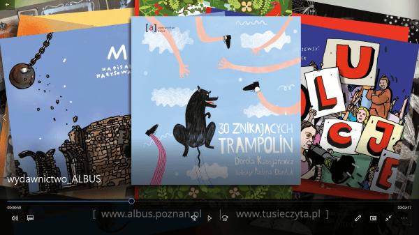 Klatka z filmu - przykładowe książki wydane przez Wydawnictwo Albus