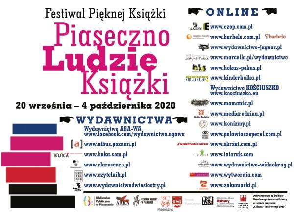 Plakat promujący wydawnictwa zaprezentowane podczas Festiwalu Pięknej Książki