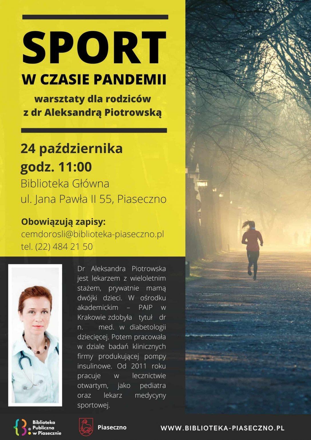 Plakat - Sport w czasie pandemii