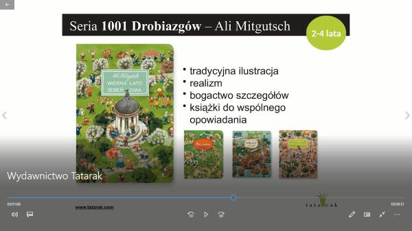 Klatka z filmu nt. Wydawnictwa Tatarak
