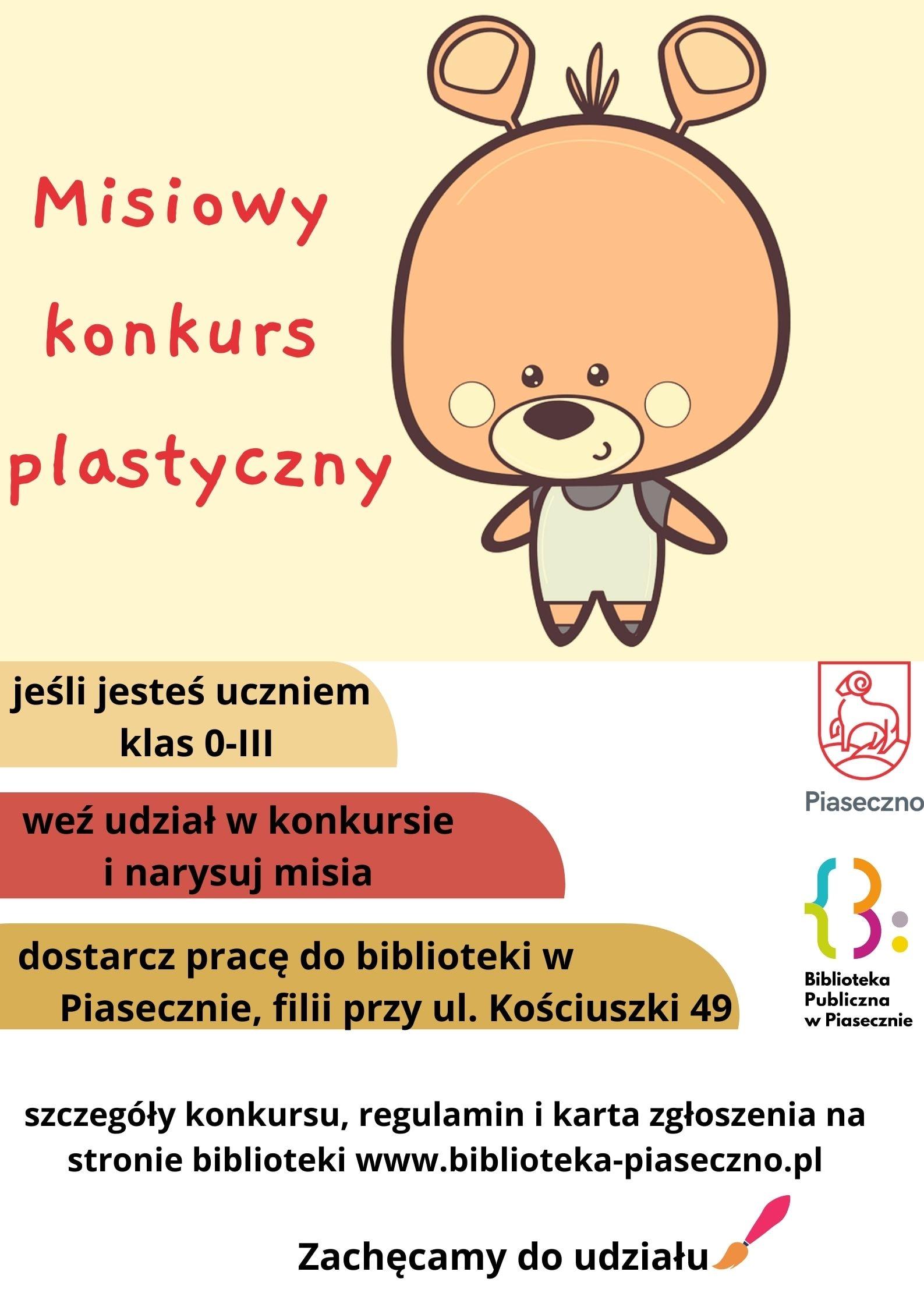 Plakat promujący Misiowy Konkurs