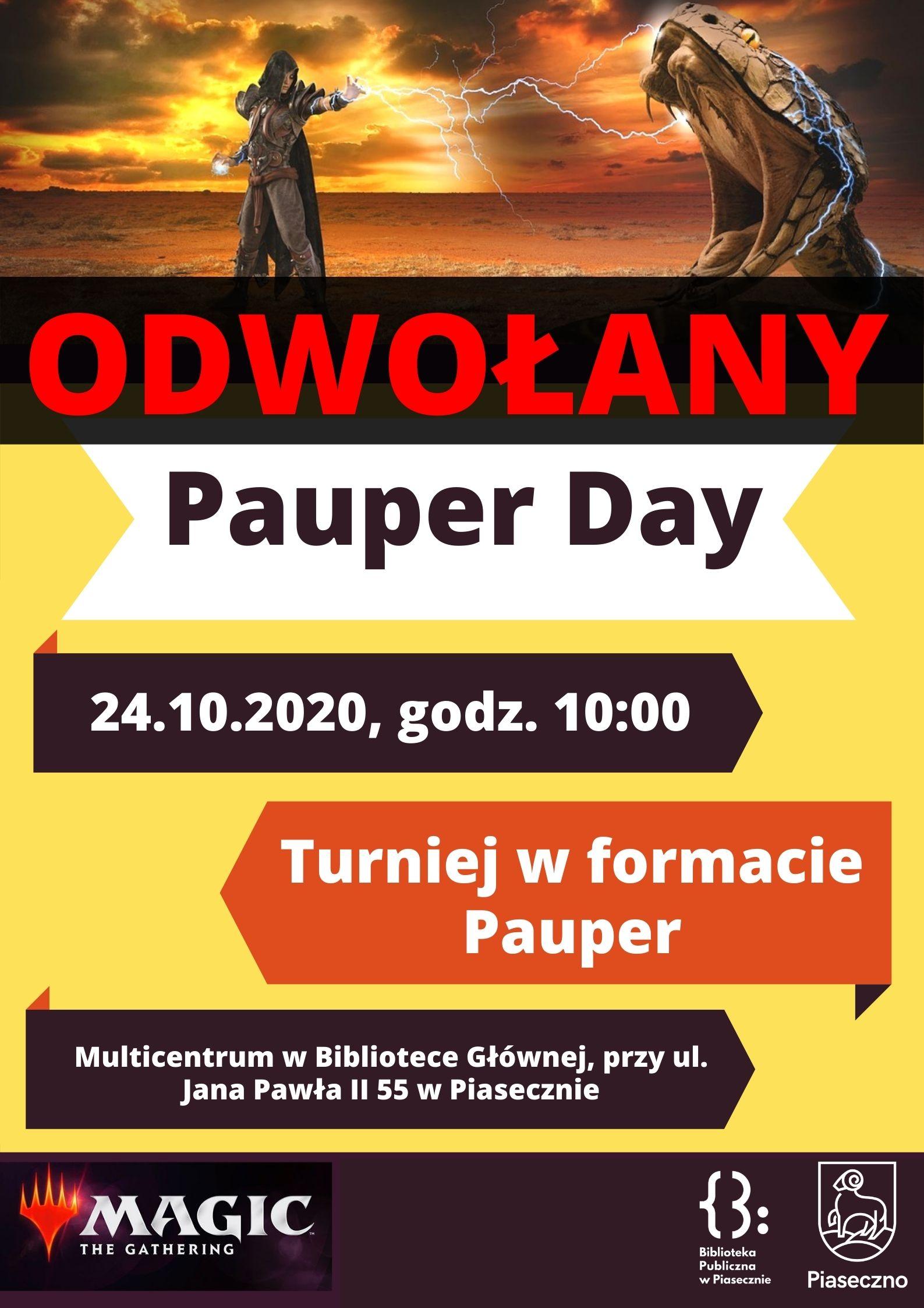 Plakat - odwołany Pauper Day