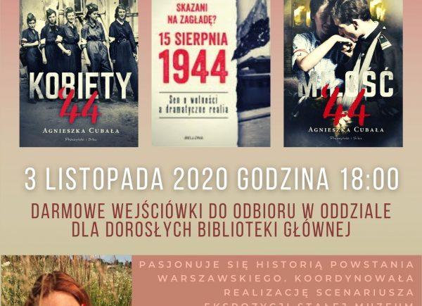 plakat promujący spotkanie z Agnieszką Cubałą