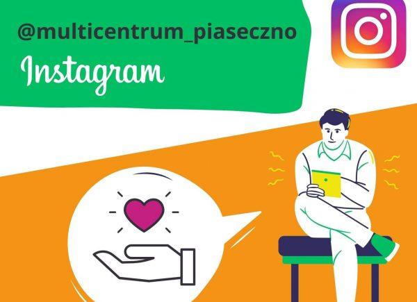 Plakat - zaproszenie na profil Multicentrum na Instagramie