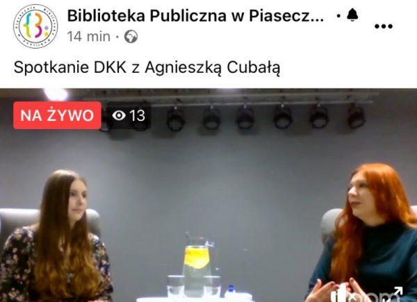 Spotkanie DKK zAgnieszką Cubałą