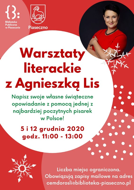 Warsztaty literackie z Agnieszką Lis