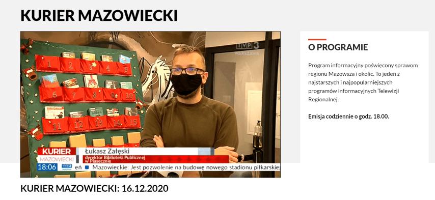 Łukasz Krzysztof Załęski wKurierze Mazowieckim