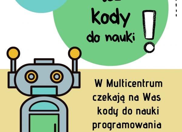 Plakat promujący kursy programowania