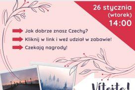 Plakat informujący oquizie natemat Czech