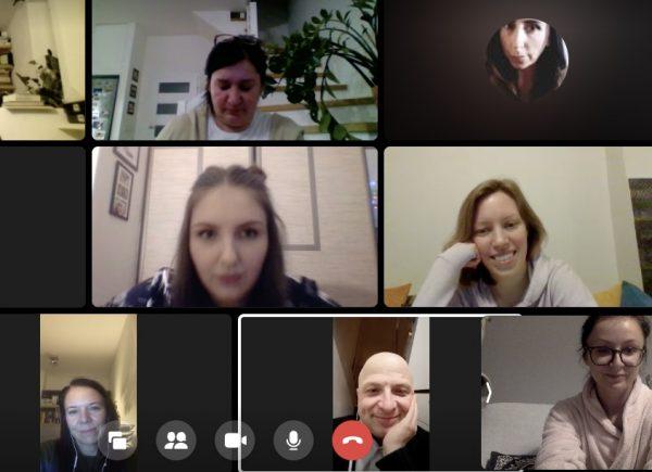 Zrzut ekranu ze spotkania DKK