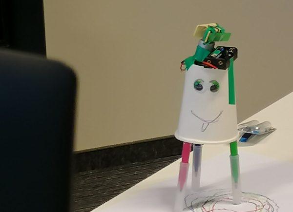 Robot przygotowany podczas zajęć