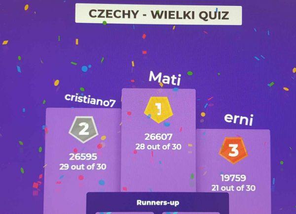 Wielki Rodzinny Quiz oCzechach - przebieg gry