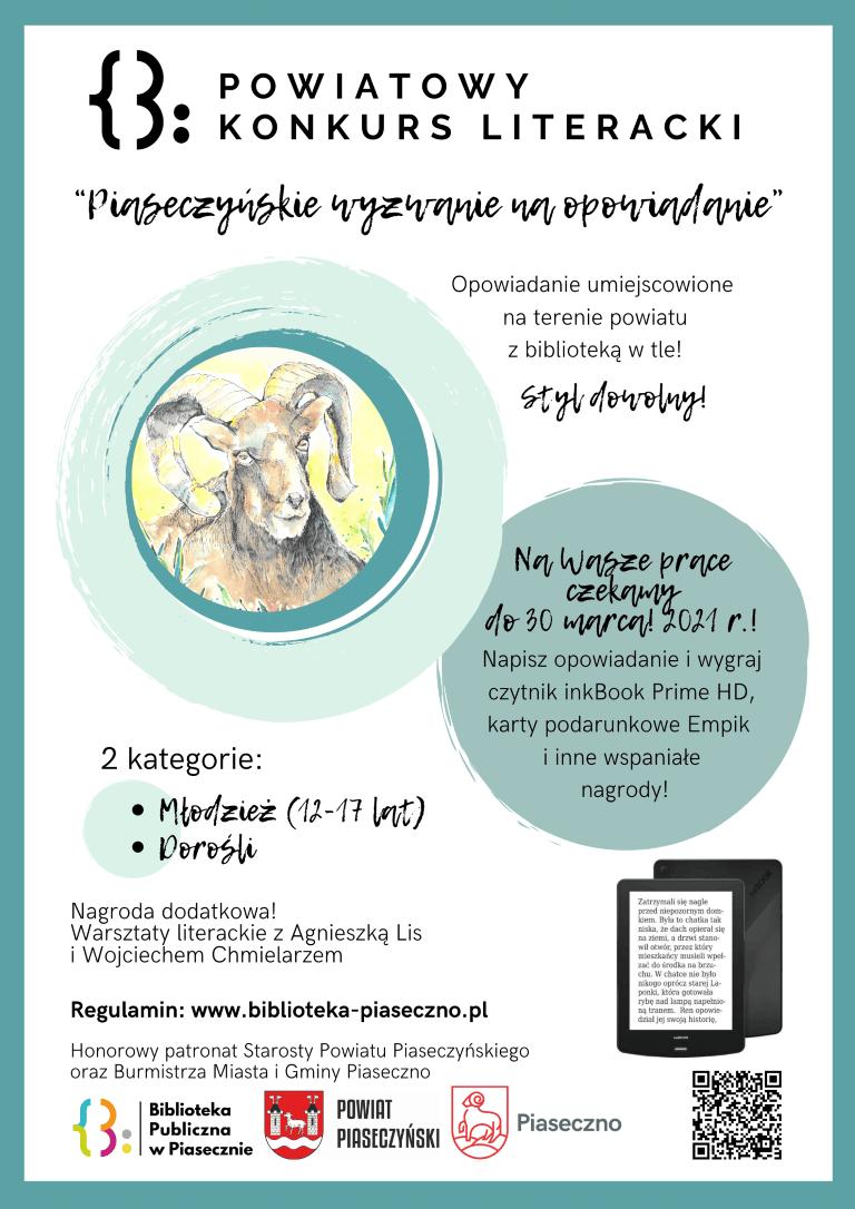 Piaseczyńskie Wyzwanie NaOpowiadanie Plakat Konkursu