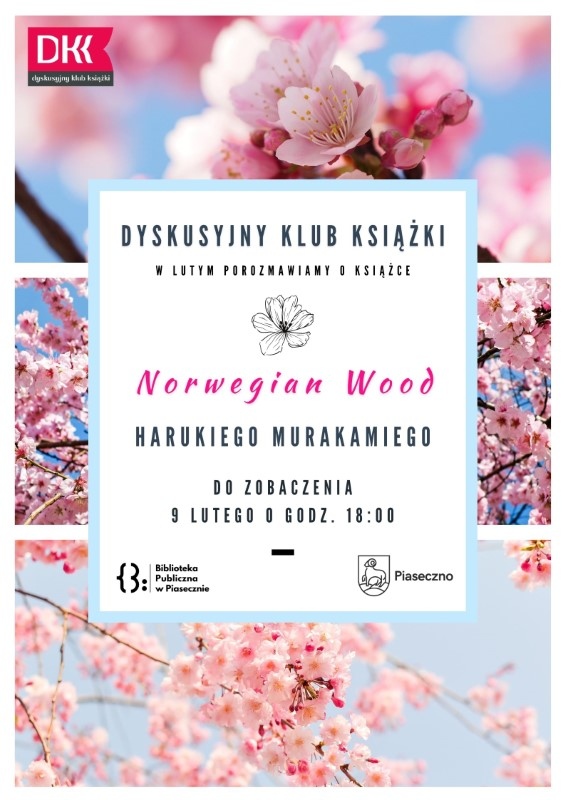 "Spotkanie DKK w lutym - ""Norwegian Wood"" Haruki Murakami"