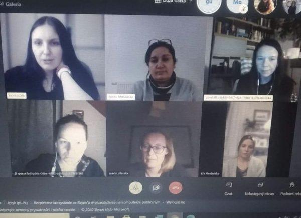 Czytelniczki podczas spotkania online