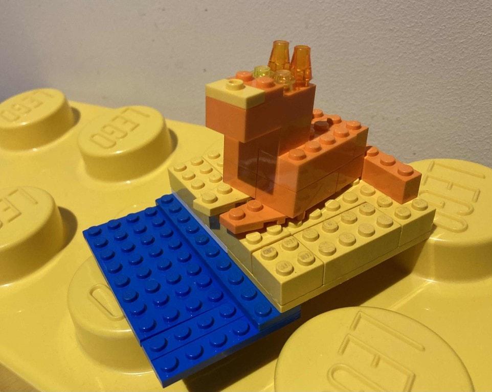 """Kalambury zklocków LEGO: Olga Szafarczyk - """"Piaskowy wilk"""" Asy Lind"""