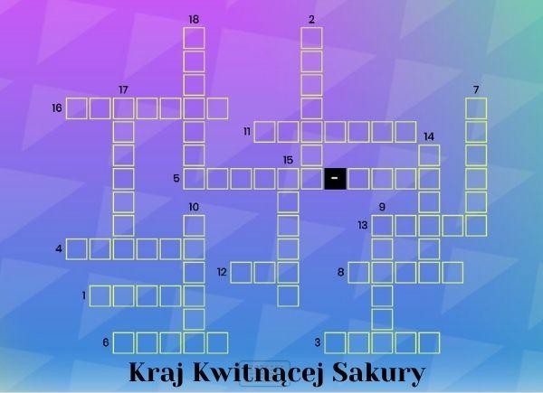 Kraj Kwitnącej Sakury - krzyżówka