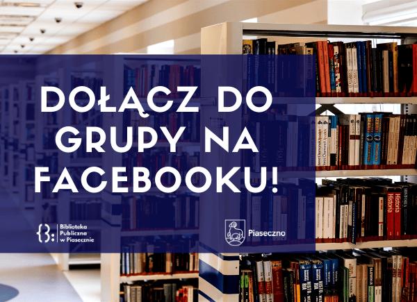 Plakat akcji - Dołącz do grupy na Facebooku