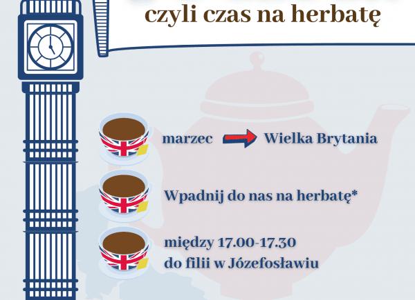 Plakat promujący akcję Czas na herbatę