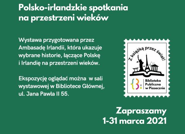 Dawniej Obcy Dziś Sąsiedzi. Polsko Irlandzkie Spotkania Na Przestrzeni Wieków - plakat informacyjny