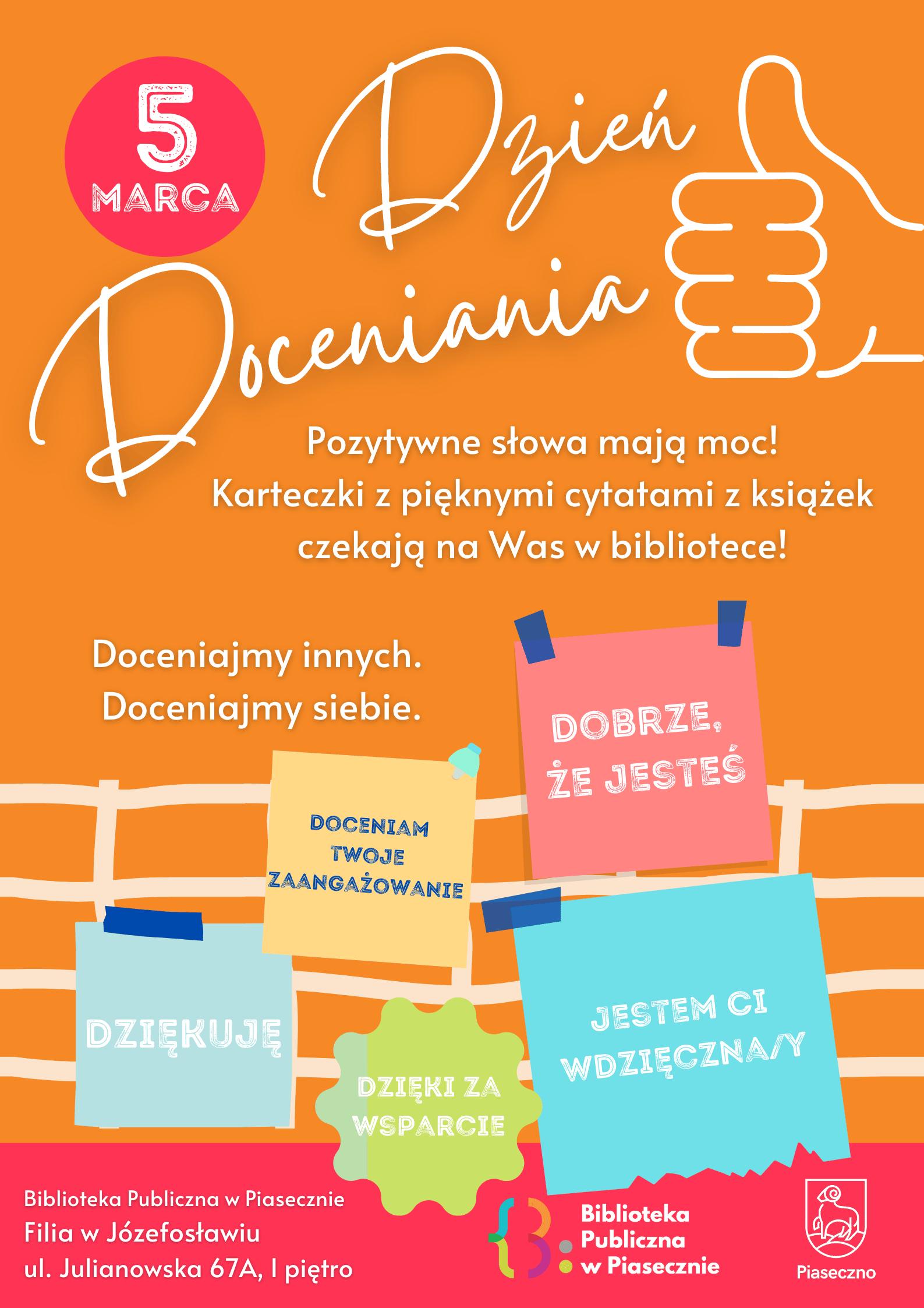 Plakat promujący Dzień Doceniania