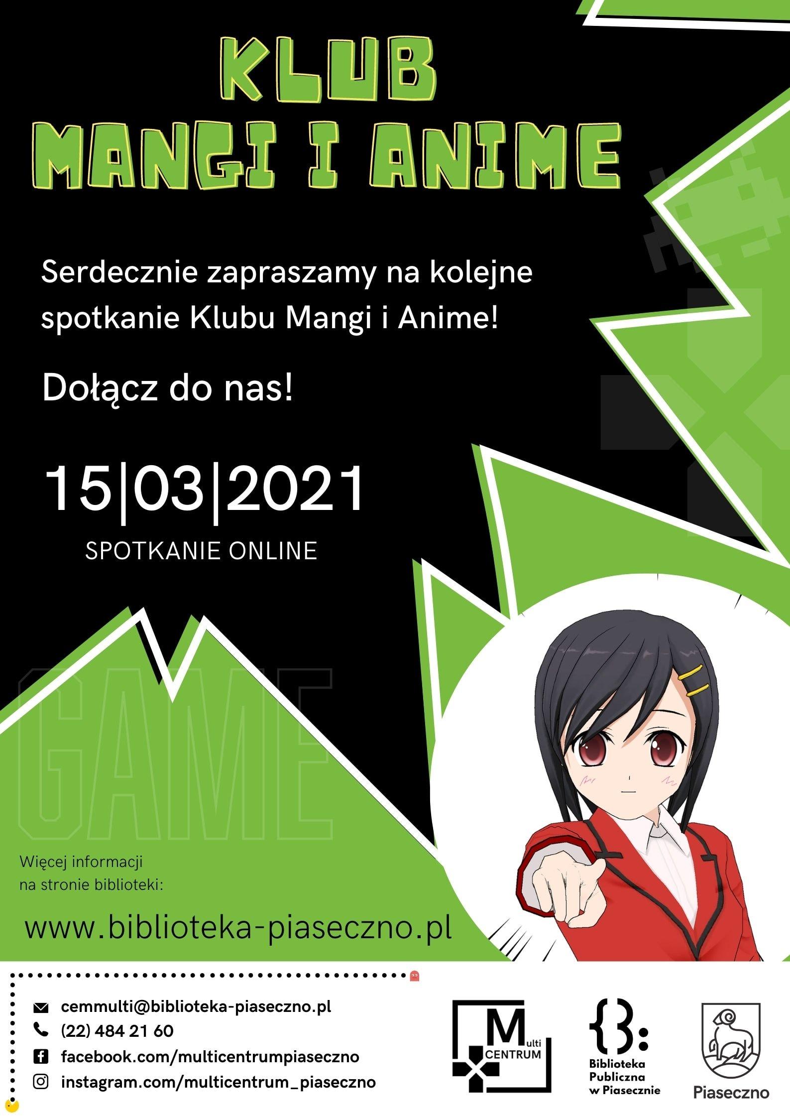 Spotkanie Klubu Mangi i Anime