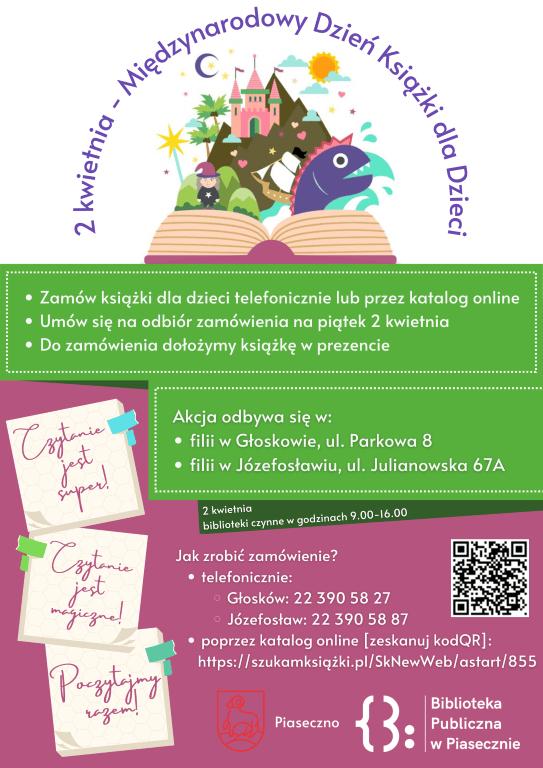 Plakat promujący Międzynarodowy Dzień Książki dla Dzieci