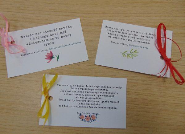 Karteczki z cytatami na Dzień Doceniania