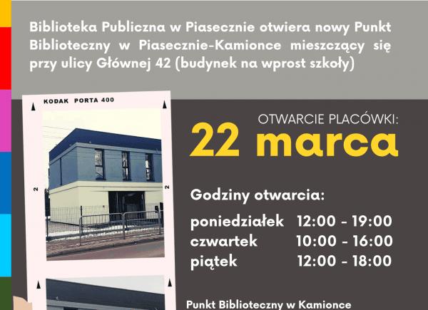 Plakat o otwarciu nowej placówki
