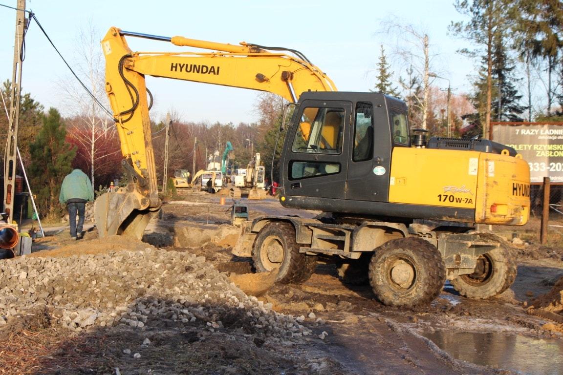 Budowa ulicy Wilanowskiej grudzień 2016