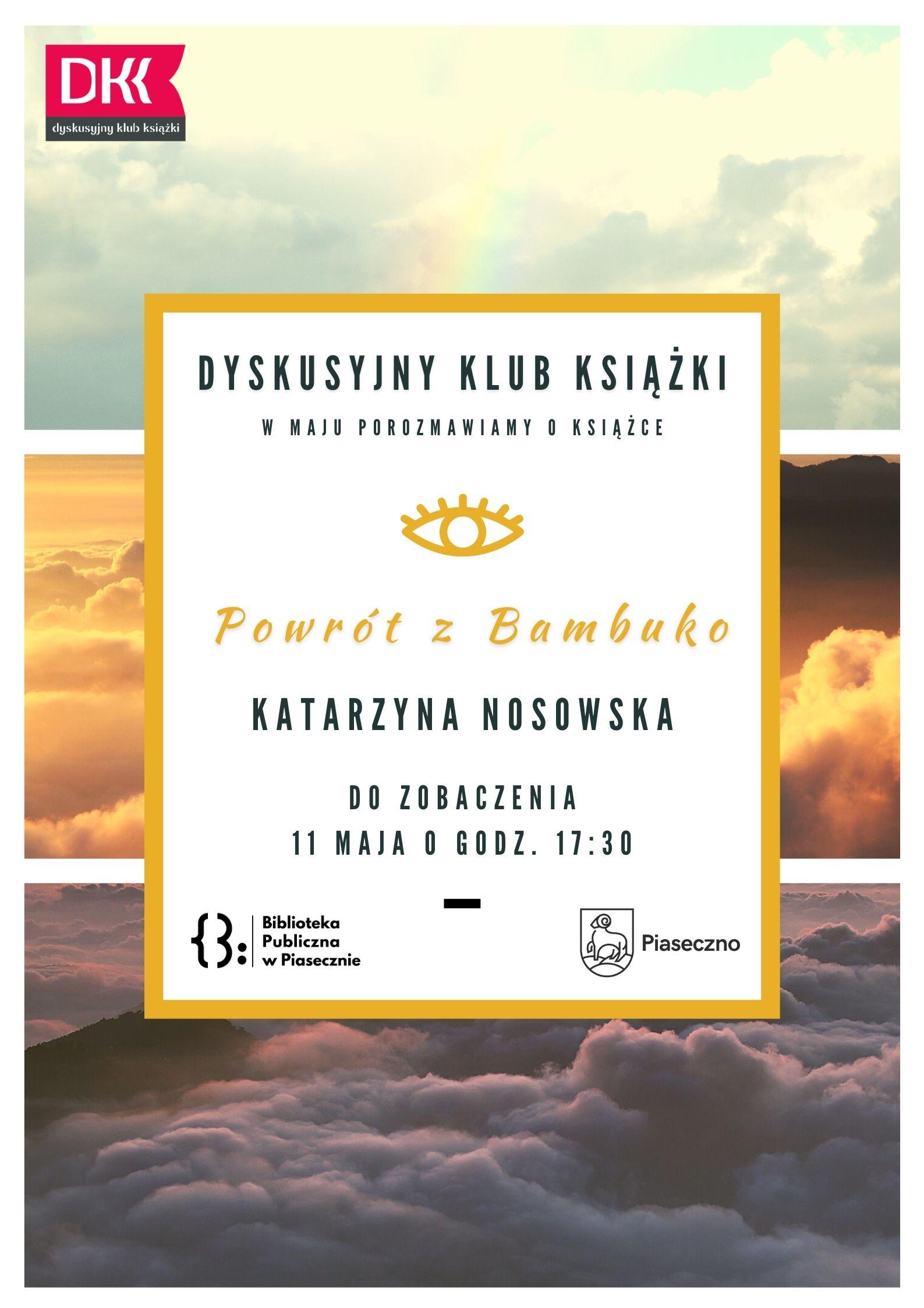Plakat informujący o spotkaniu DKK w majuPlakat informujący o spotkaniu DKK w maju