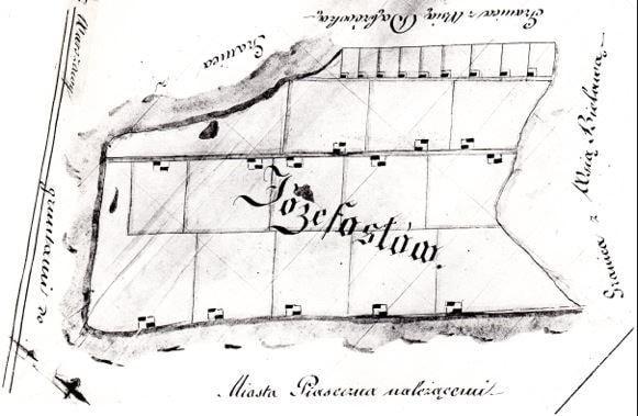 Mapa osady w Józefosławiu