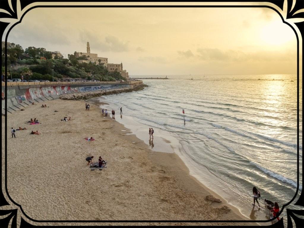 Tel Aviv - zachód naplaży miejskiej, fot.Piotr Michalski