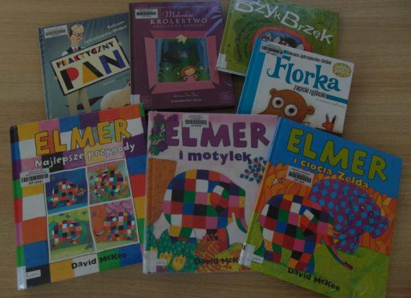 Propozycje książek dla dzieci filia wJózefosławiu