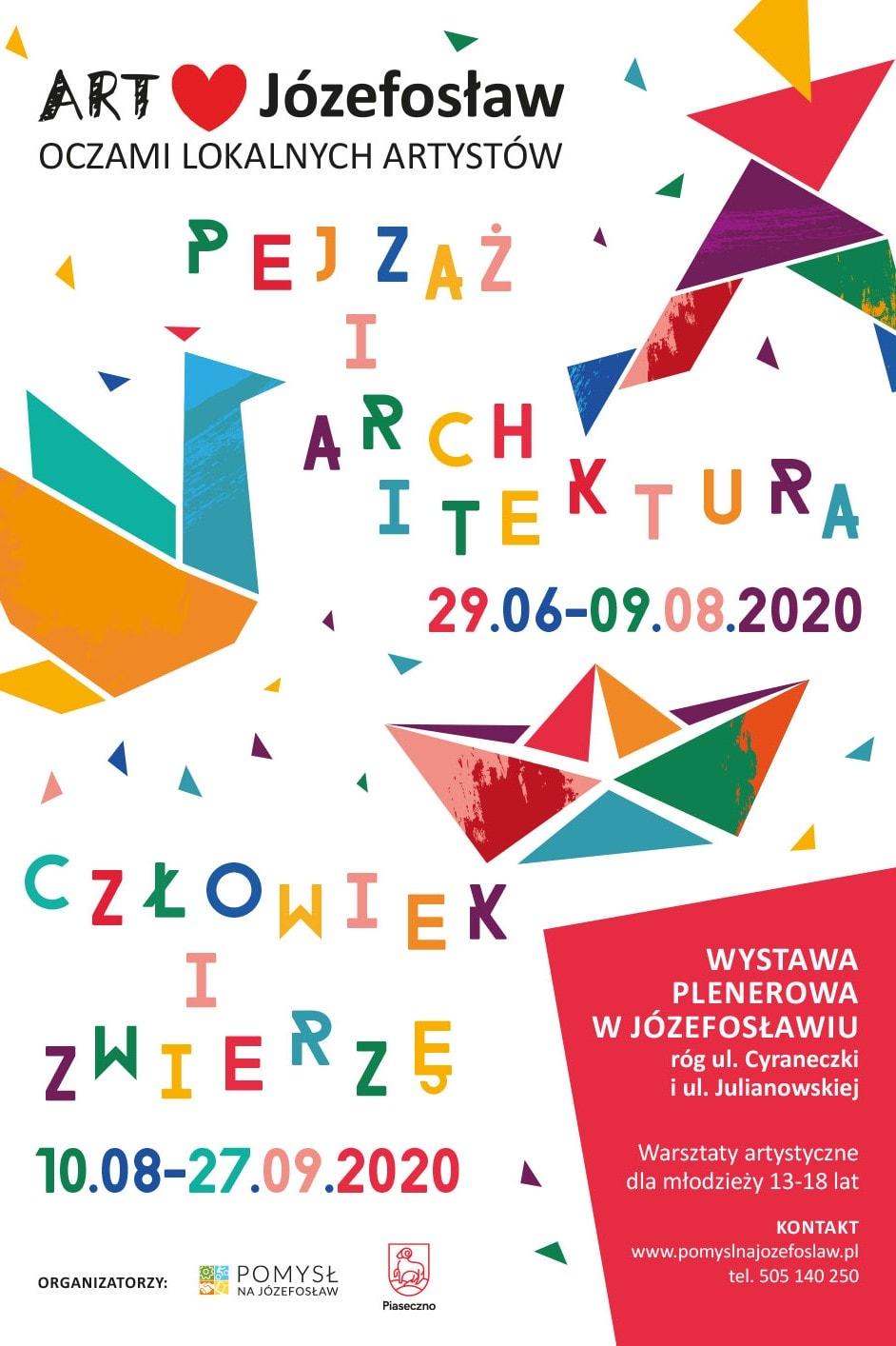 plakat wystawy Art Love Józefosław