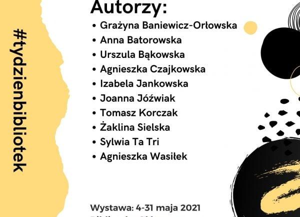 """Plakat promujący wystawę """"Do dzieła"""", prace artystyczne bibliotekarzy"""