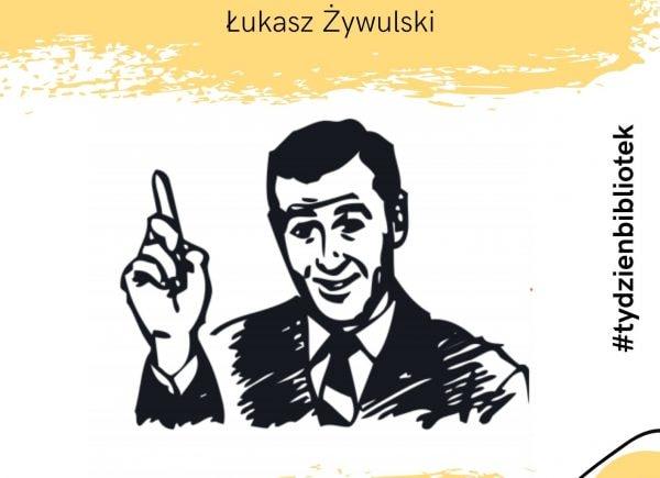 Plakat promujący wystawę memów autorstwa Łukasza Żywulskiego