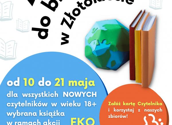 Plakat informujący o akcji Eko Bookcrossing